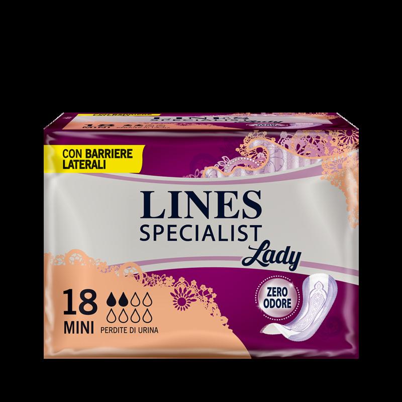 Acquista online Lines Specialist MiniUltra Mini | Linea prodotto Leggere e Medie per donna. Lines Specialist, prodotti per perdite di urina Mini