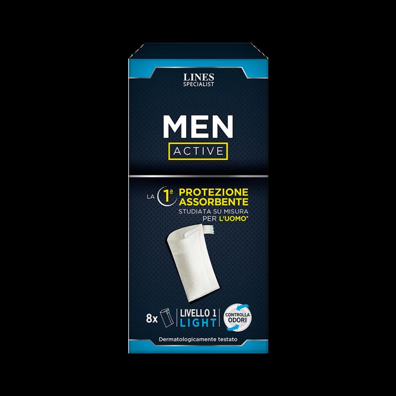 Acquista online Lines Specialist Assorbente maschile   Linea prodotto per uomo. Lines Specialist, prodotti per perdite di urina ASSORBENTE MASCHILE ACTIVE - LIVELLO 1