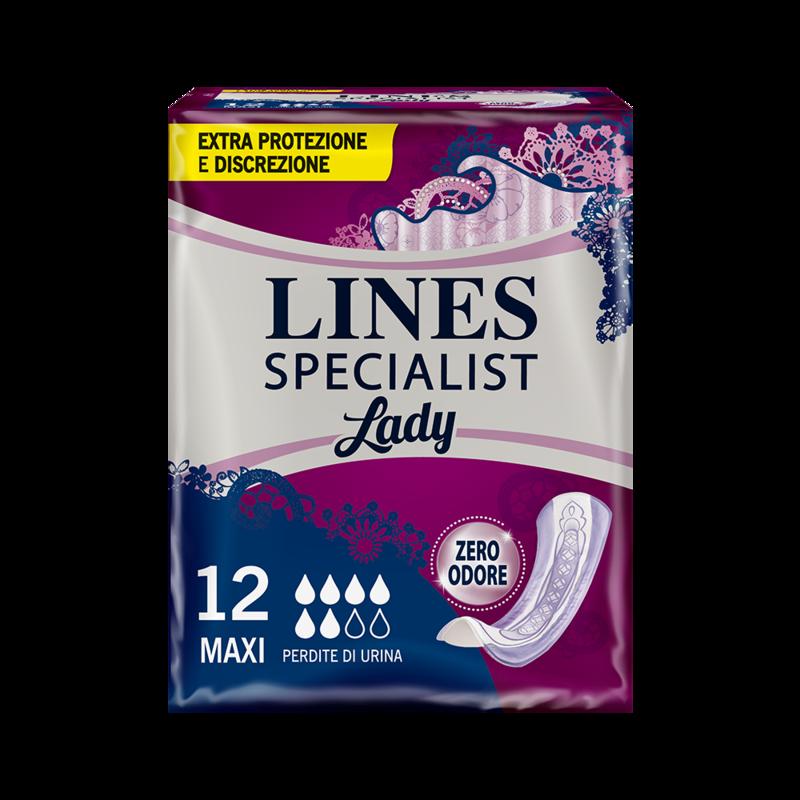 Acquista online Lines Specialist MaxiUltra Mini   Linea prodotto Medie e Alte per donna. Lines Specialist, prodotti per perdite di urina Maxi