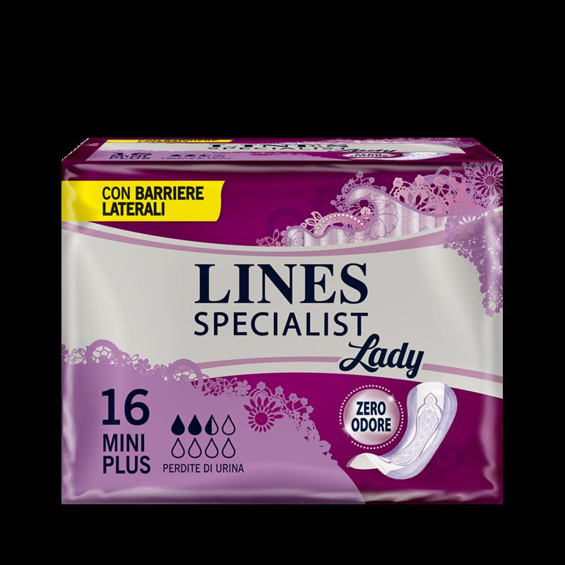 Acquista online Lines Specialist Mini PlusUltra Mini | Linea prodotto Leggere e Medie per donna. Lines Specialist, prodotti per perdite di urina Mini Plus