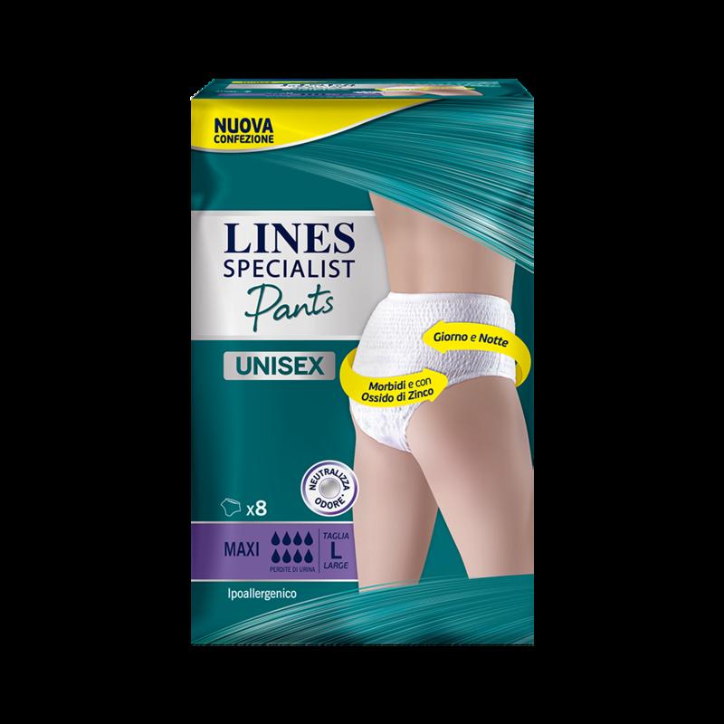 Acquista online Lines Specialist Pants MaxiUltra Mini | Linea prodotto Alte per uomo e donna. Lines Specialist, prodotti per perdite di urina Pants livello Maxi - taglia large